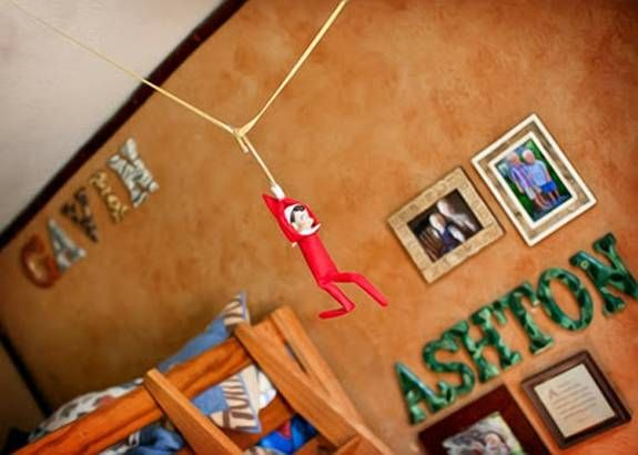 From the fitness fan to the overachiever, we've got you covered with ten fun 'Elf on the Shelf' ideas to please all of your little elves.