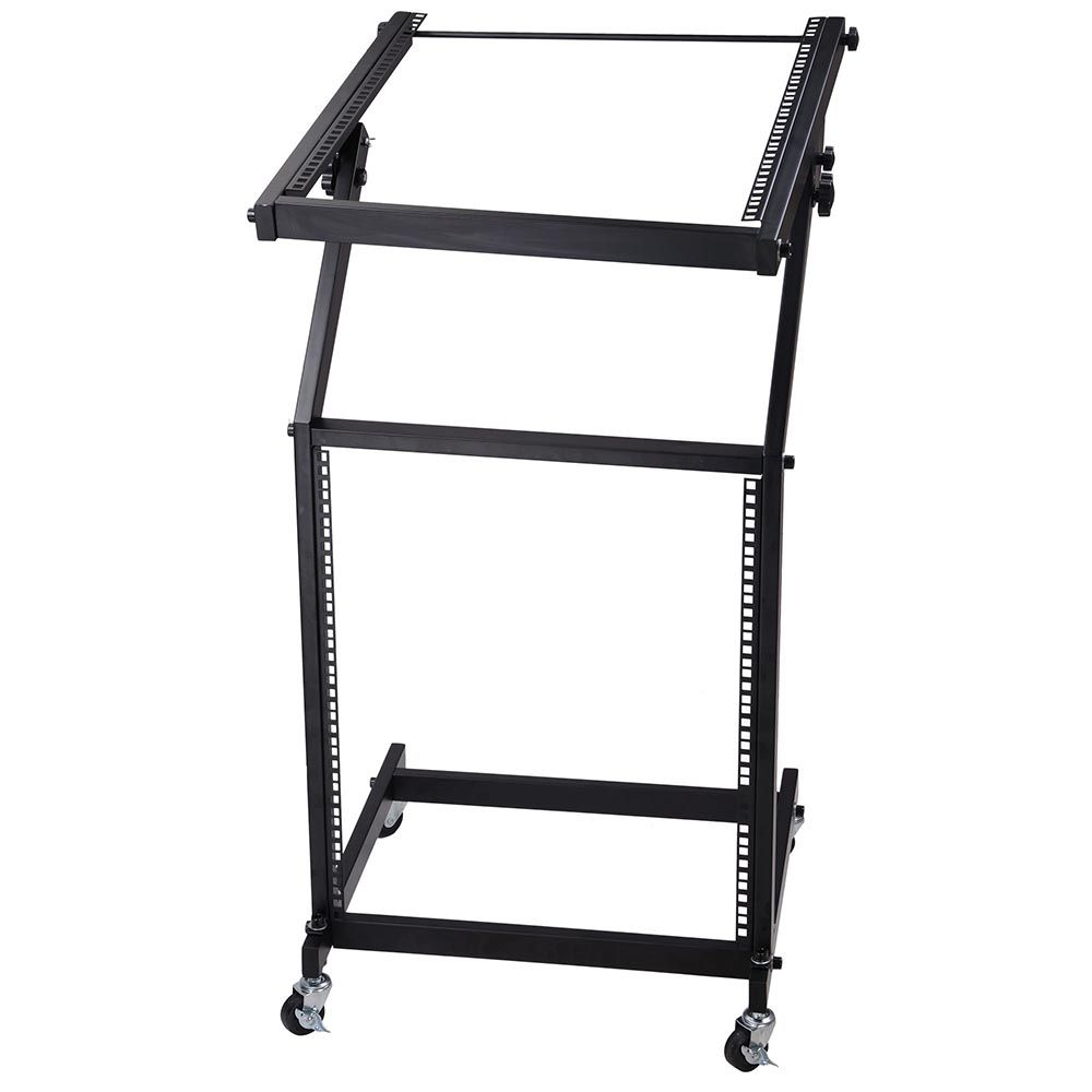 Thelashop 12u 19 Audio Mixer Stand Portable Studio Rack W Wheels Rack Studio Equipment Dj