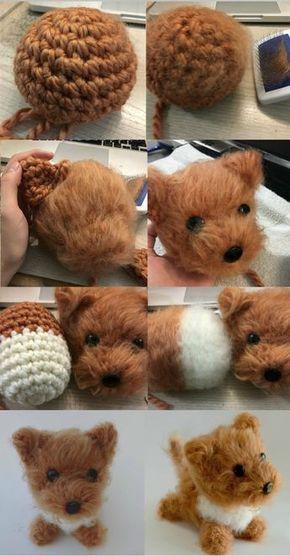 Dog Amigurumi Pattern - Brush Crochet #crochetamigurumi