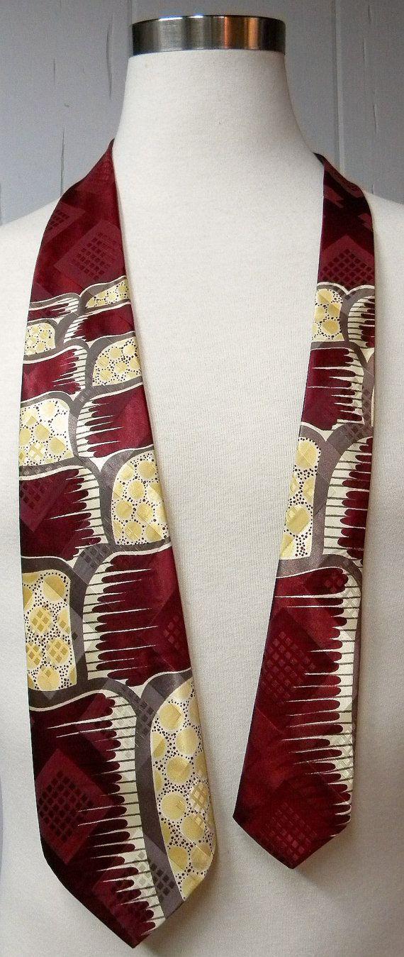 Vintage 1970s Knit Tie  Mens Brown Yellow Blue Diagonal Striped Knit Necktie Vintage Menswear Vintage Knit Tie Vintage Men/'s Accessories