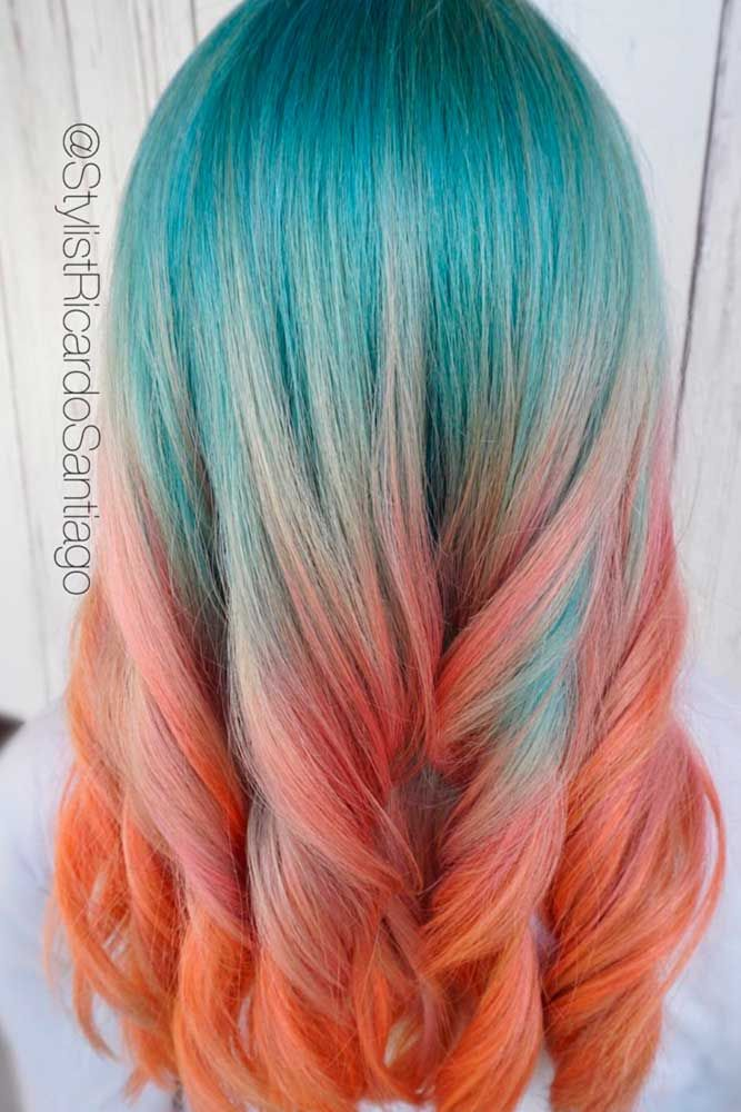 30 Hot Geode Hair Color Styles Lovehairstyles Com Hair Styles Hair Color Trends Balayage Teal Hair