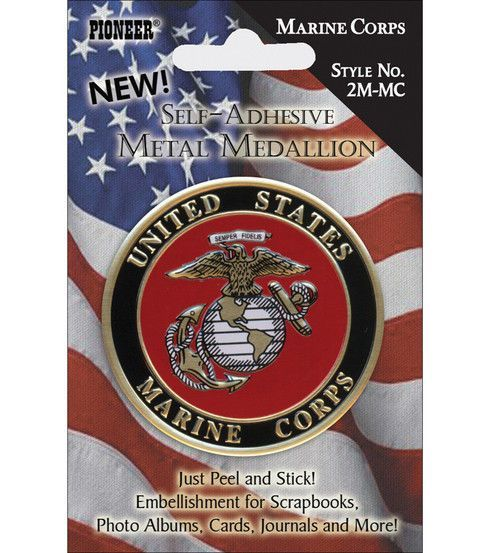 Pioneer Military Medallion Embellishments-Marine Corp | joes