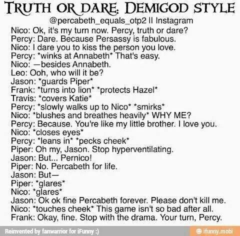 This is super cute! << i ship percabeth and solangelo bUT