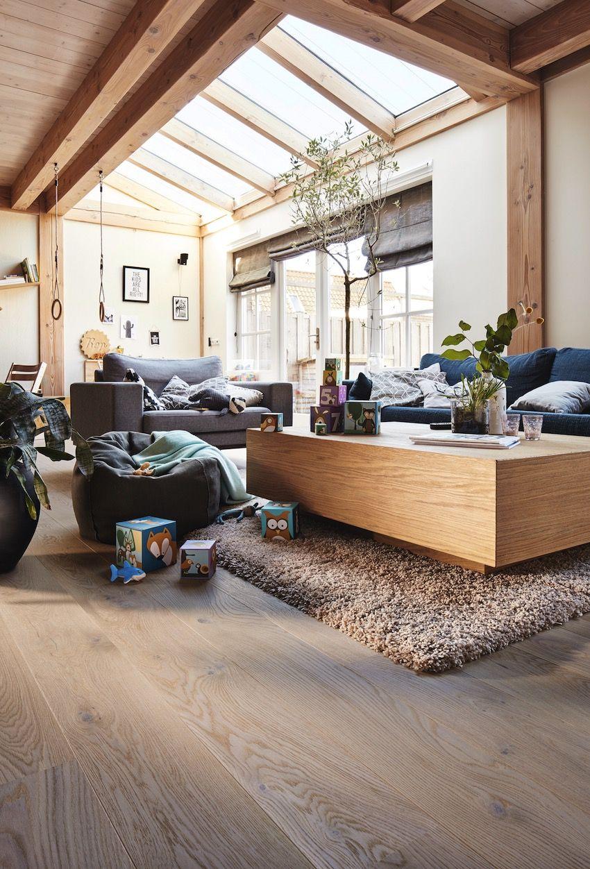 Wohnen im Modern Style | Eiche rustikal, Wohnzimmer böden ...