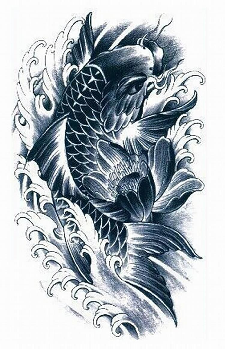 30 koi tattoo design and displacement ideas koi koi for Koi fish designs