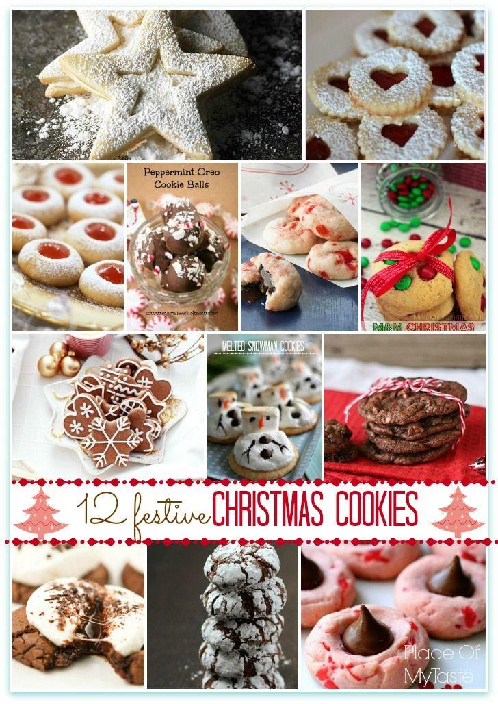 12 Festive Christmas Cookies Christmas Cookies Christmas Eve