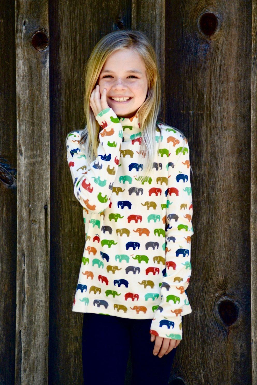 organic cotton childrenus long sleeve turtleneck t shirt