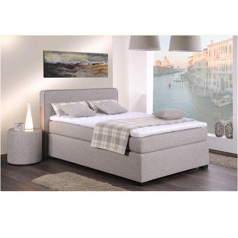 Boxspringbett NOXA - sand-braun - 140x200 cm - H2 Dreamland - schlafzimmer einrichten braun