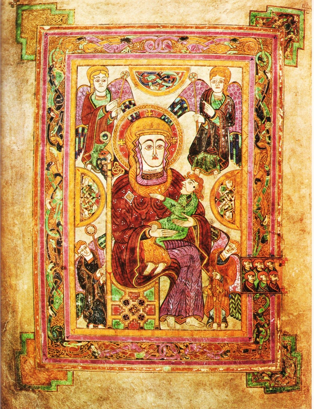 The Virgin And Child The Book Of Kells Folio 7v