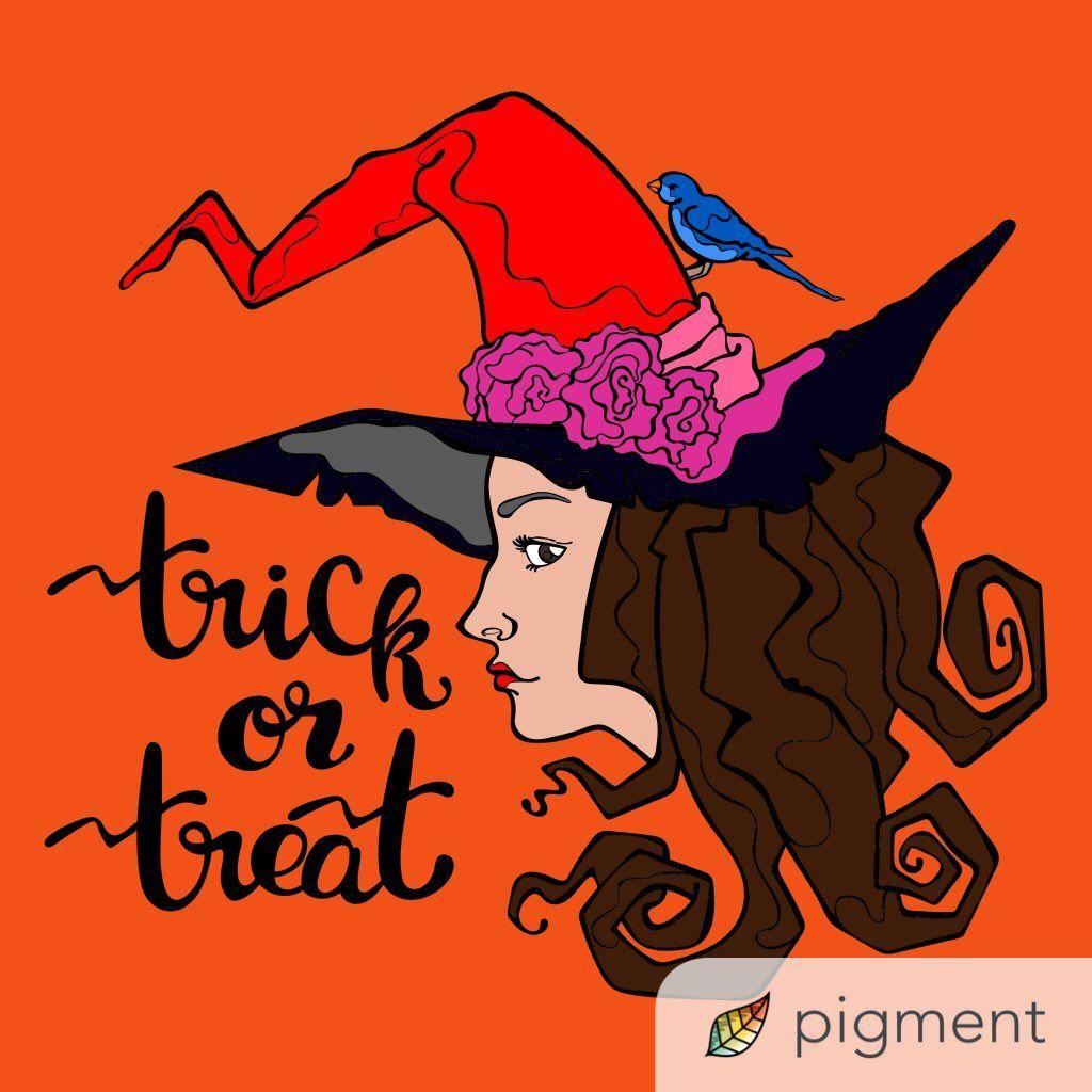 Pin de Pigment App en Halloween Coloring Pages | Pinterest