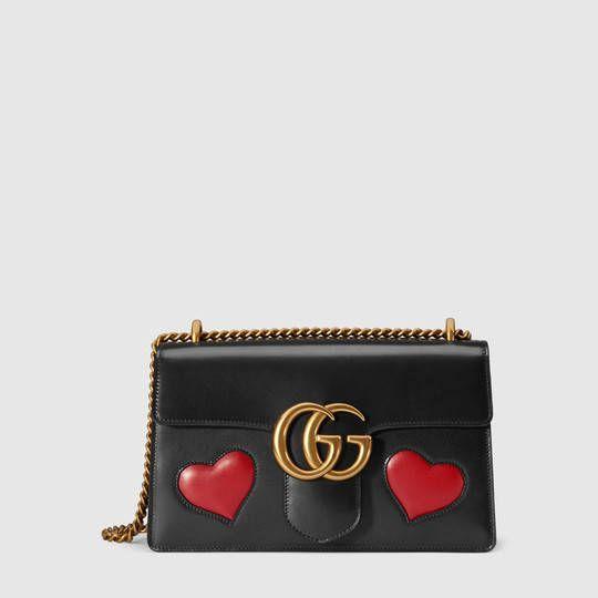 29e0ae6c0aa Gucci Sac à épaule GG Marmont en cuir 2100€