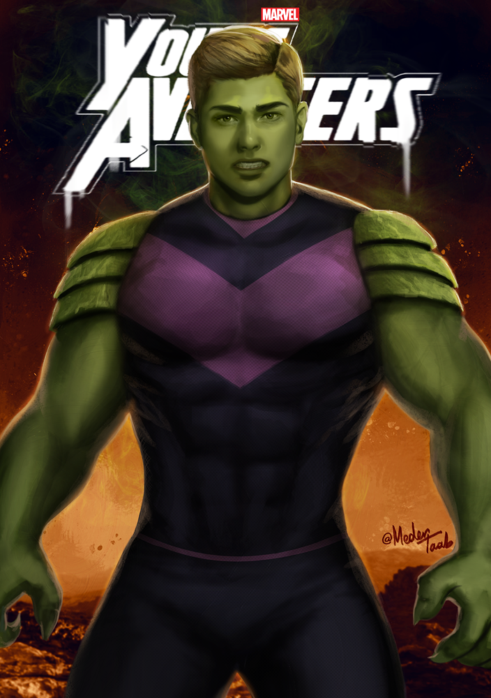 """""""There are new kids on the block"""" Continuing my series of Young Avengers character fanarts. Sorry that it was a long time since the last one, but I hope to complete the entire team soon!Here's my take on Teddy Altman, aka Hulkling.I changed his hair, hope it looks good :) Who's next?"""