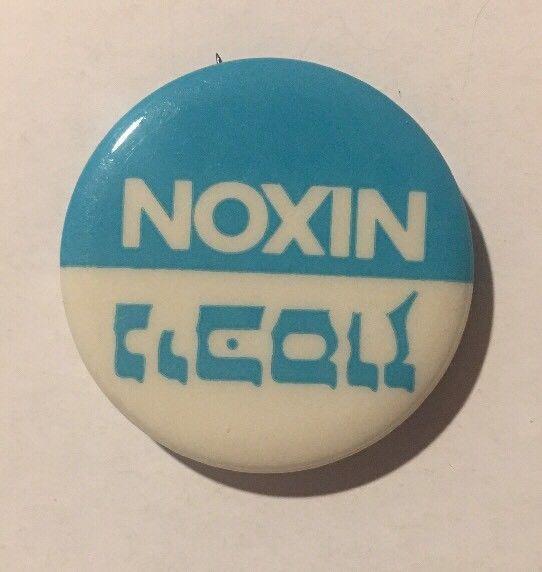 Rare Nixon Pins: Vintage Hebrew Noxin Nixon Presidential Campaign Button