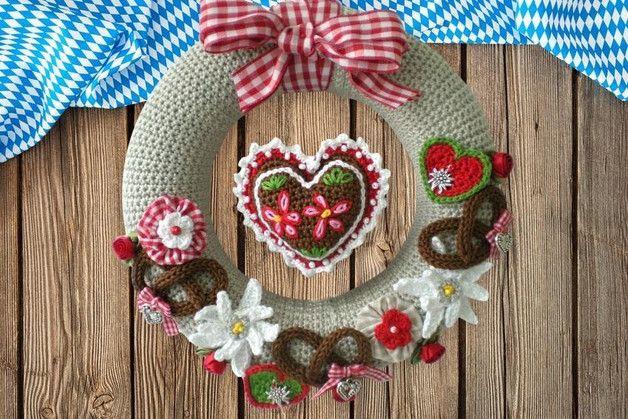 """Photo of Crochet pattern for a door wreath for Oktoberfest / wreath, """"Oktoberfest"""", ba …"""