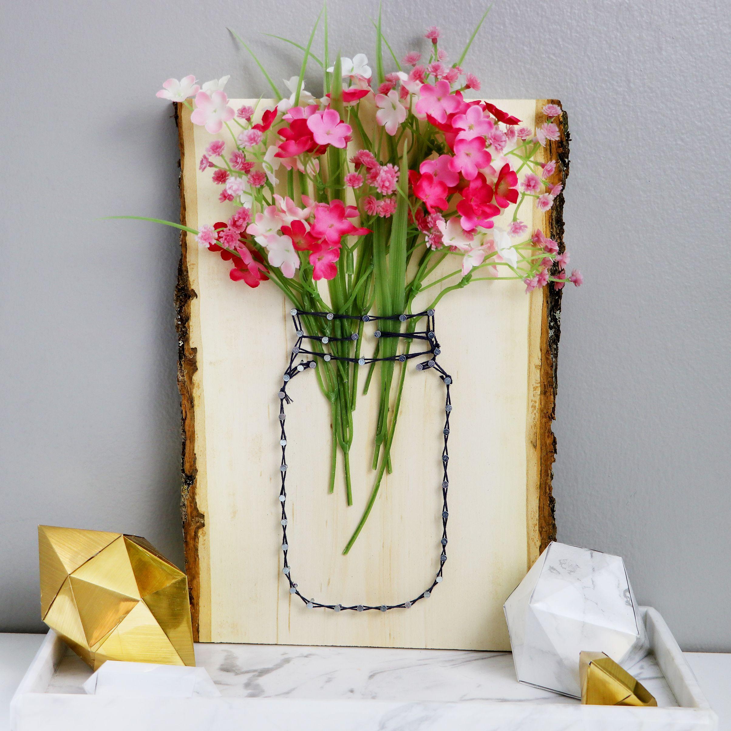 Diy string art mason jar vases karen kavett diy projects by diy string art mason jar vases karen kavett reviewsmspy