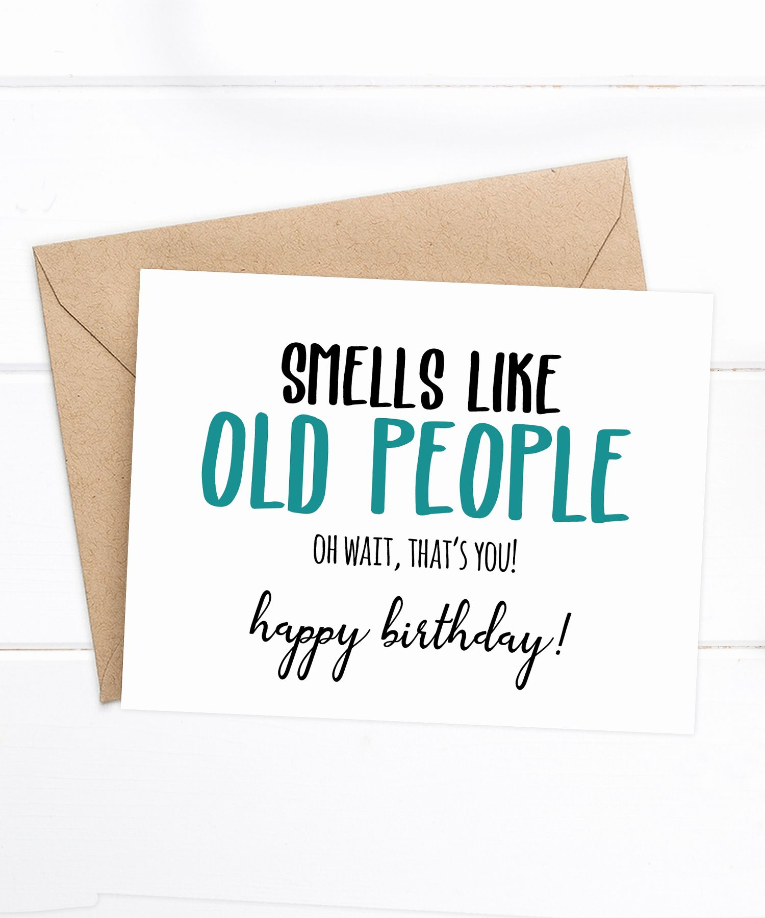 Funny Old Grandma Goat Birthday Card (With