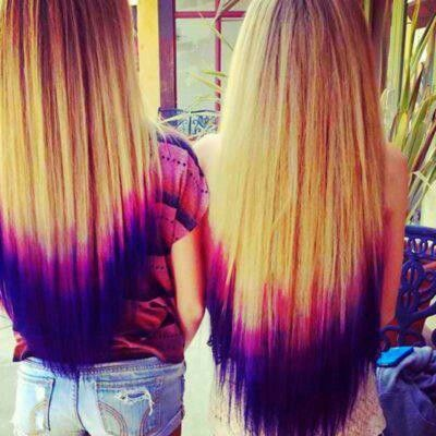 See different color hair is in style bitches wanna hate- this kind of looks choppy but good idea!