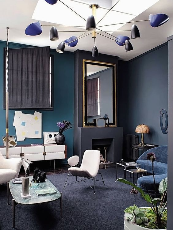 Blauer Salon. Designer: Florence Lopez photo by Jean ...