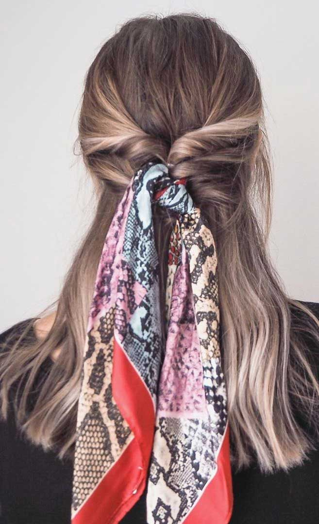 45 Pretty Ways To Style Your Hair With A Scarf #hairscarfstyles
