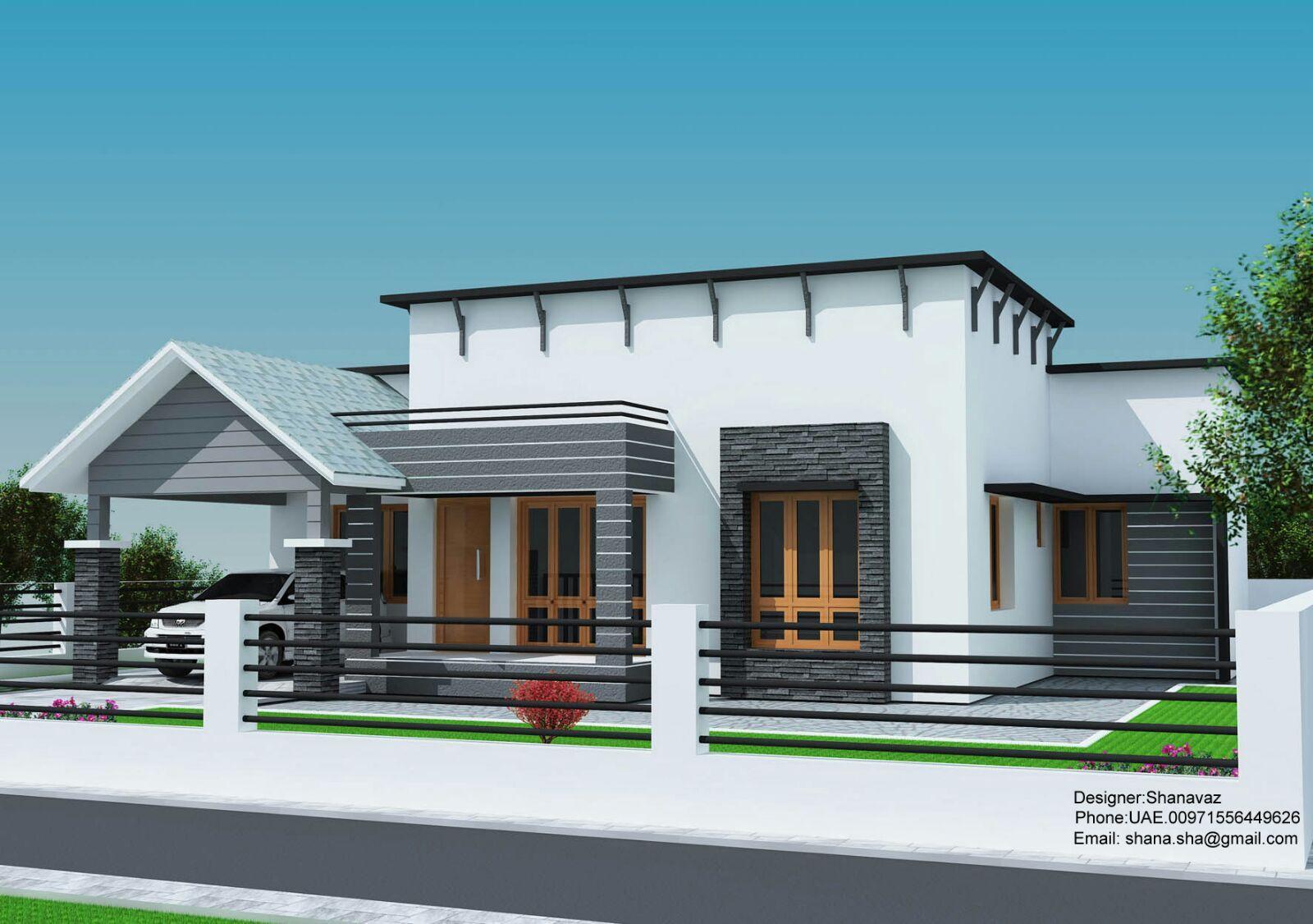 3 Bedroom Cute Kerala Home Plan, Budget 3 Bedroom Kerala Home Plan ...