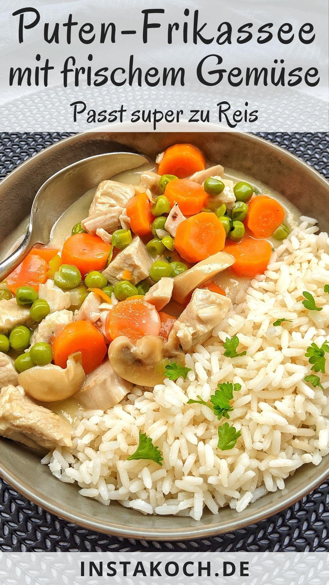Putenfrikassee mit Reis  Einfaches Frikassee Rezept  schnell selbst gemacht Hühnerfrikassee mit Reis kennen und lieben wir alle Mein Rezept für Putenfrikassee m...