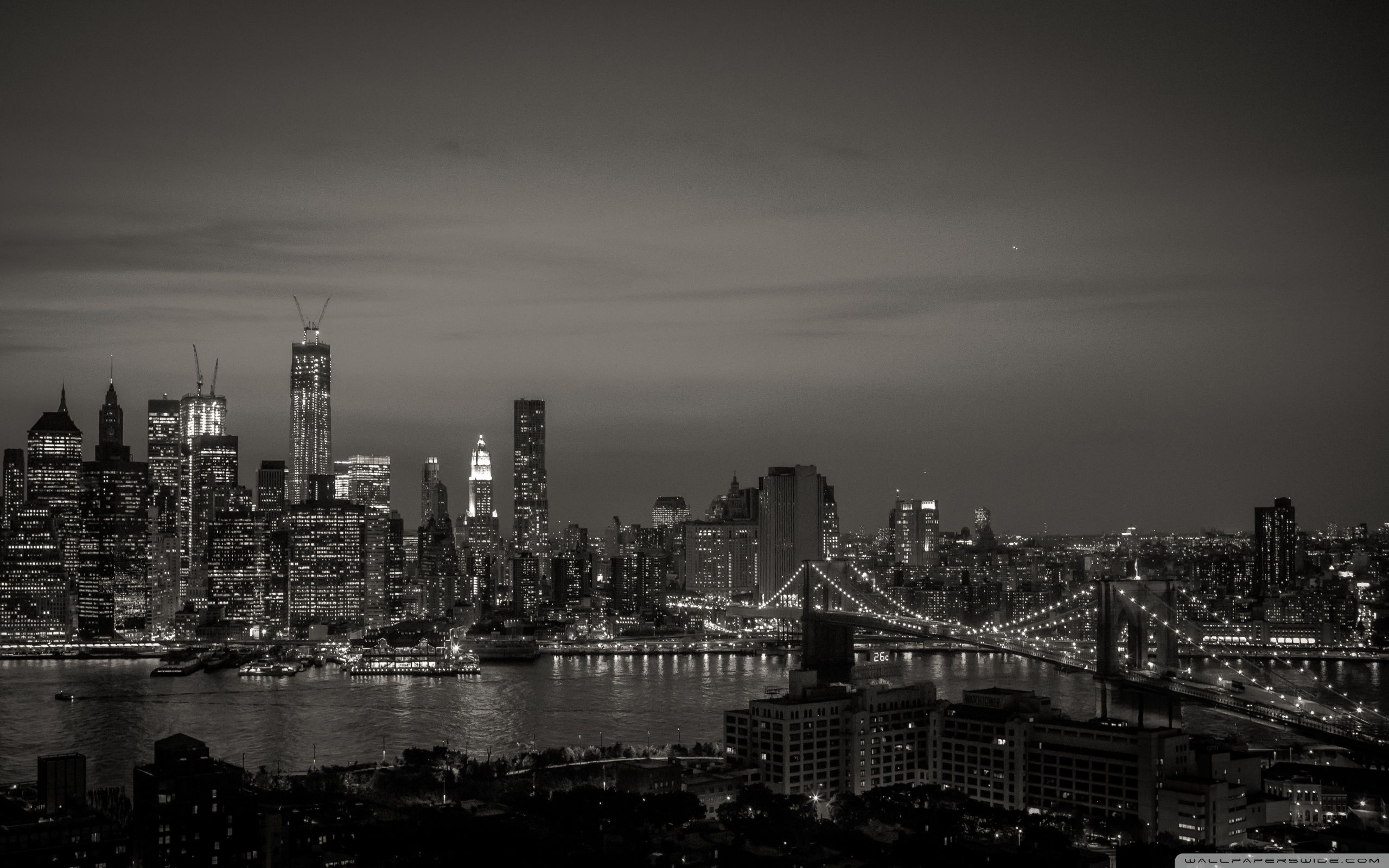 New York City Black and White HD desktop wallpaper