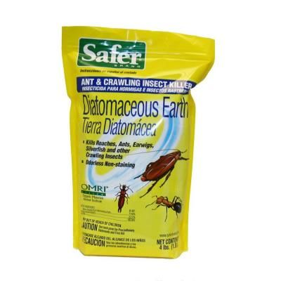 safer brand 4 lb diatomaceous earth ant and crawling insect killer hodge podge bed bugs. Black Bedroom Furniture Sets. Home Design Ideas