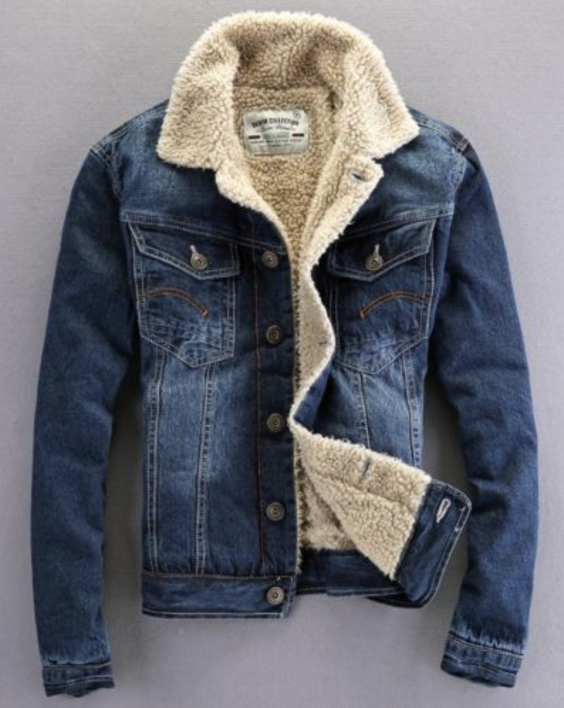 b17b74cd3c31 FOR SALE  Fashion Mens Casual Fleece Lining Winter Warm Denim Coat Cowboy Jeans  Jacket