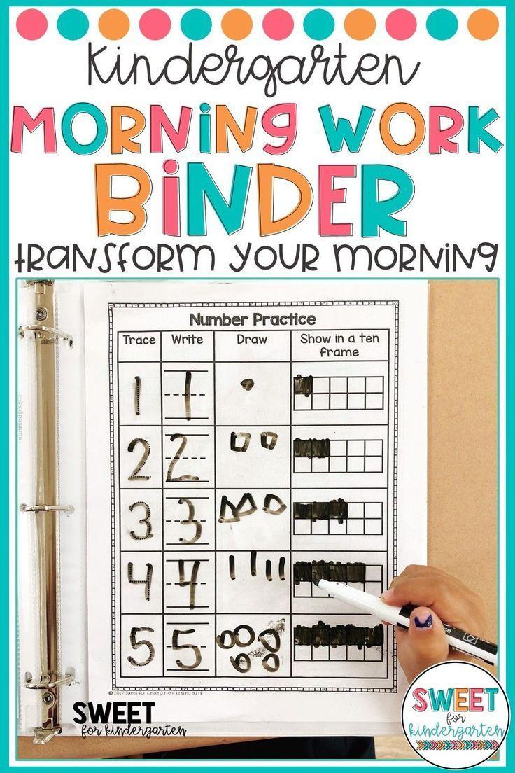 Kindergarten Morning Work Binder