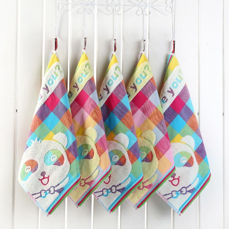 3pcs Lot Cotton Hand Towels Bathroom Kitchen Hanging Wipe