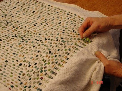 """how to make """"shag"""" rag rugs 
