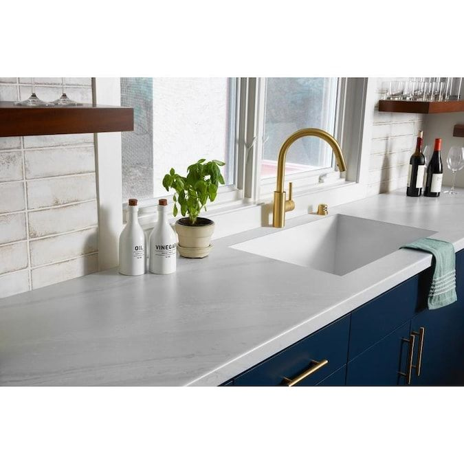 Formica Brand Laminate 180fx 48-in W x 96-in L White Painted Marble/Satintouch Laminate Sheet Lowes.com