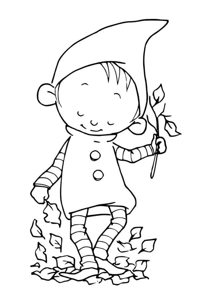 Duende Otono Dibujos Para Colorear Dibujos De Navidad Para Imprimir Y Dibujos Para Bordar