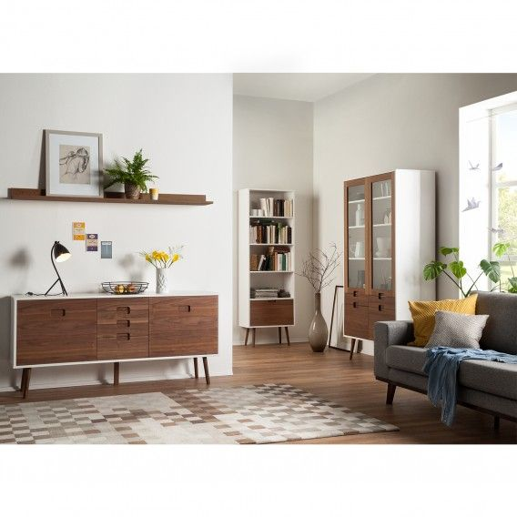 Sideboard Verwood I Salon Living room inspiration Home decor - Wohnzimmer Braun Mint