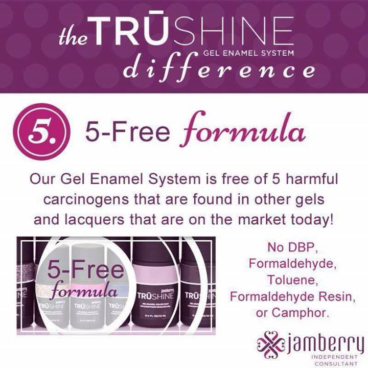 Trueshine enamel is made with the 5Free formula! No nasty Chemicals!