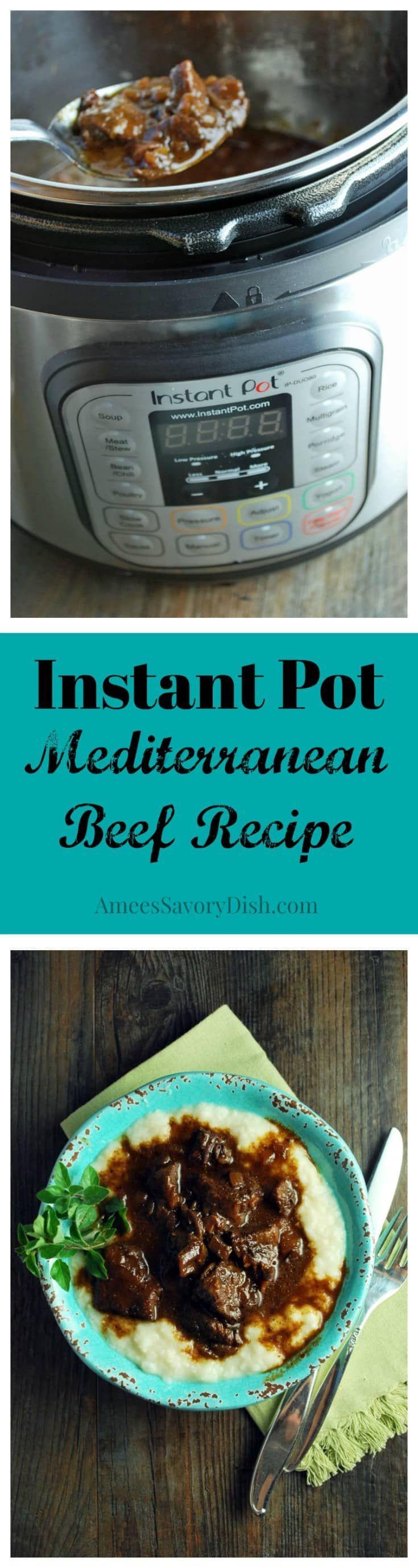 Instant Pot Mediterranean Beef | Recipe | Instant Pot | Pinterest ...