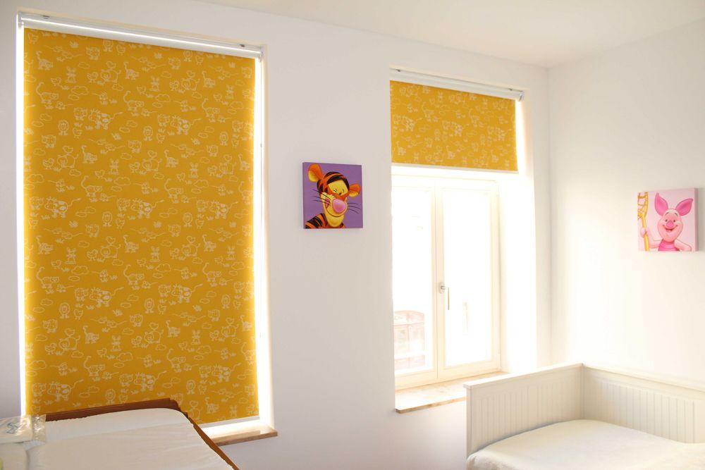 gelbe Rollos im Kinderzimmer zur Verdunkelung | yellow ...