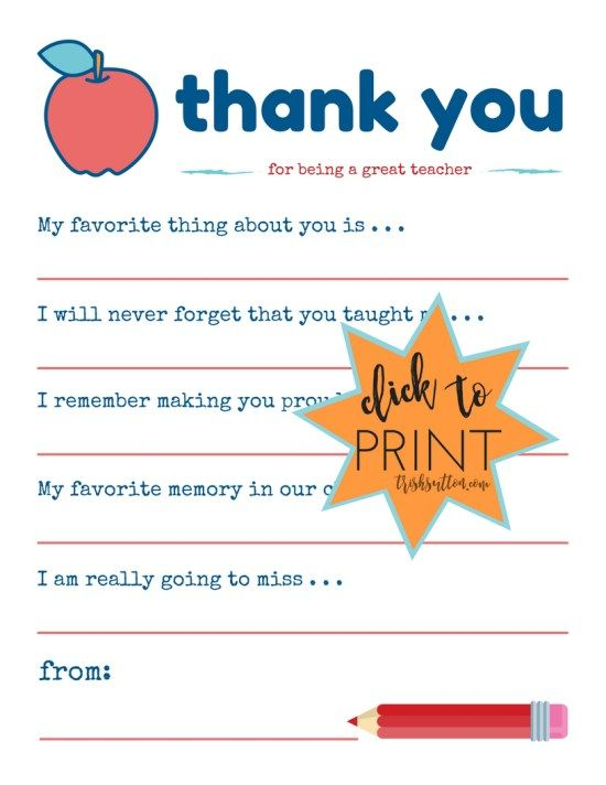 how to end a thank you card to a teacher