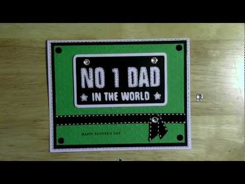 cricut  NO 1 Dad in the world Fathers Day card  Holiday Cakes cartridge
