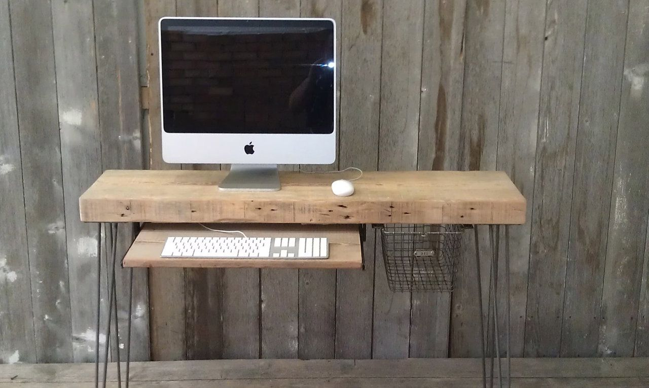 Industrial Work Desk So you've got a beautiful 27 inch iMac and nothing but a low-end Ikea desk to sit it on? Don't do that to y...