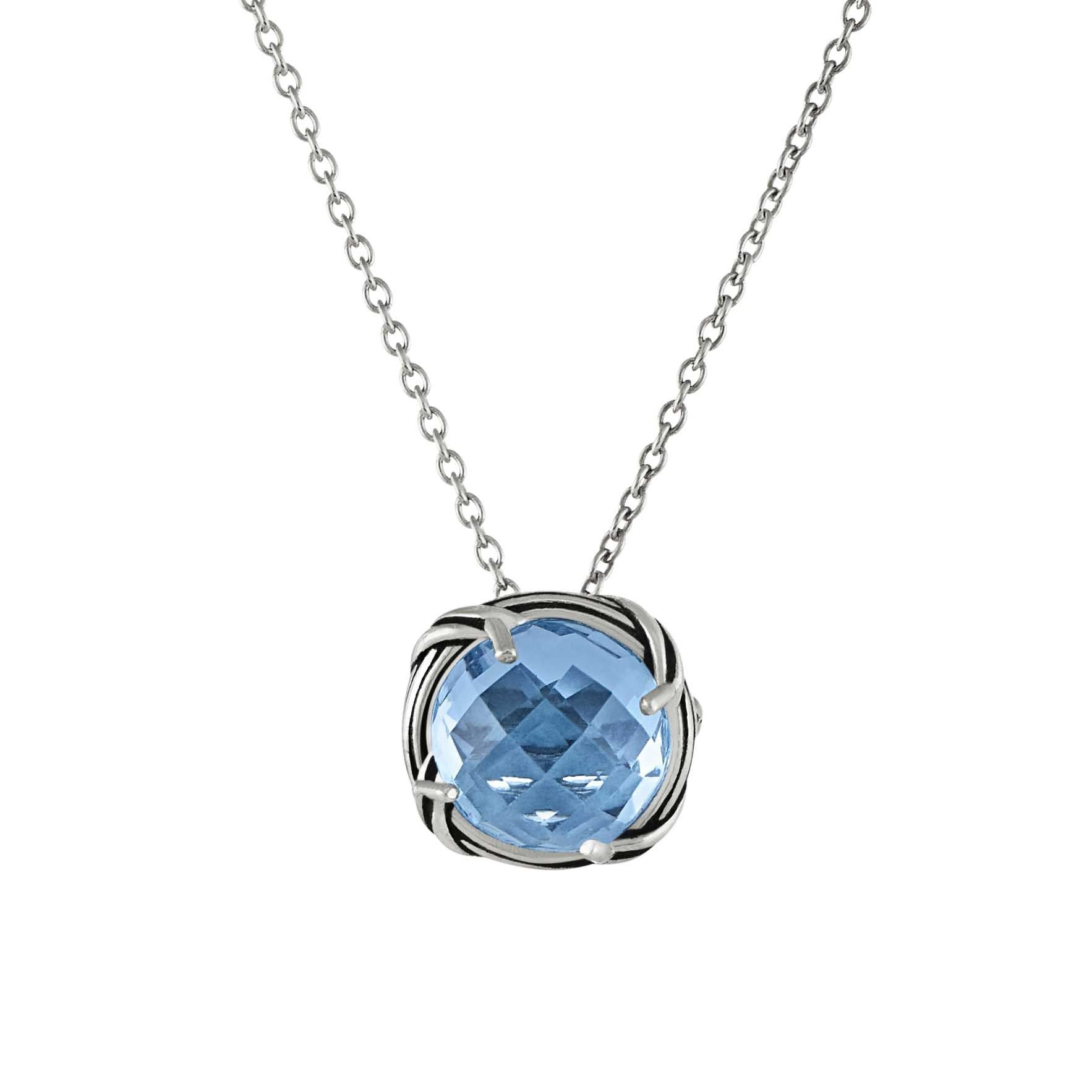 d071895b6bad Peter Thomas Roth Fine Jewelry Fantasies Blue Topaz Necklace in sterling  silver