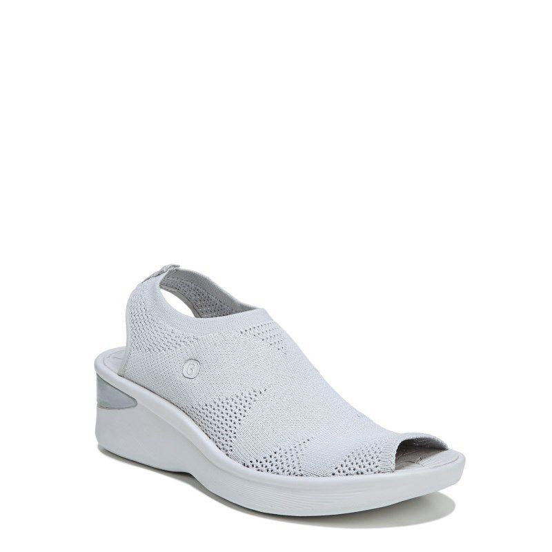 624655a437 Bzees Women's Secret Sandals (Light Grey Knit) Strap Heels, Wedge Heels,  Shoes