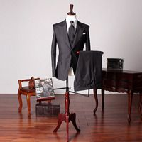 Today's Hot Pick :79809 No.208 Three Piece Classic Black Suit http://fashionstylep.com/SFSELFAA0016883/stylehommeen1/out The slim-fit jacket and straight-leg trousers create a well-balanced silhouette, while the black hue exudes old-school elegance. This versatile, three-piece ensemble is stylish and timeless investment for work or black tie events, just switch your shirt and tie for options suitable for the occasion. Suit Jacket - Two button front closure - Slim fit - Peak lapels - Long ...