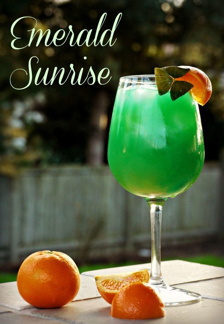 Emerald sunrise st patricks day cocktail recipe st