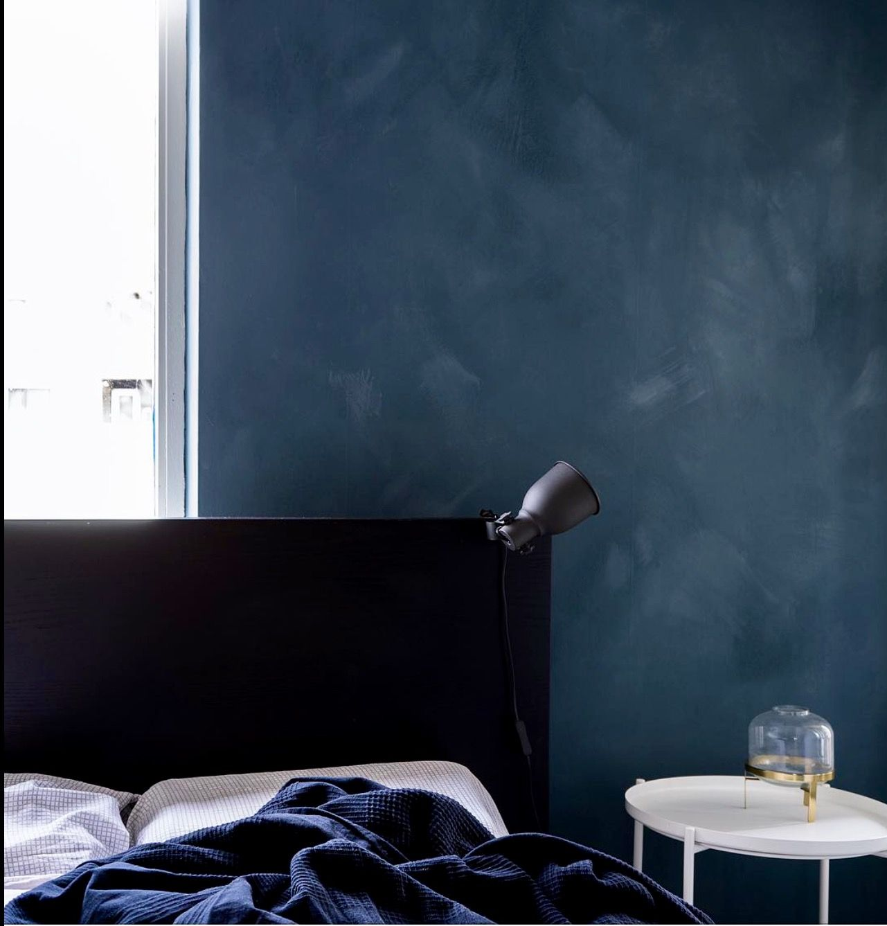 interior design blue bedroom fesco from talian walls
