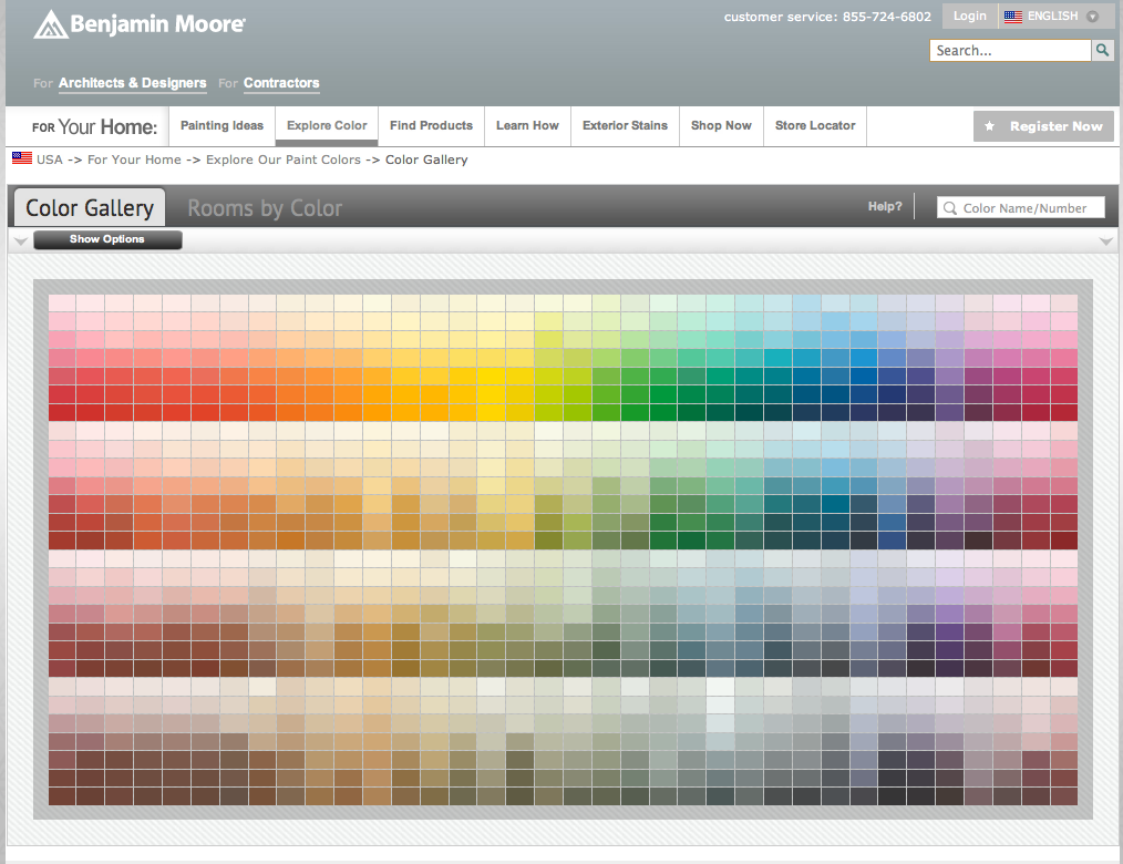 Benjamin Moore Online Digital Paint Color Wheel Www