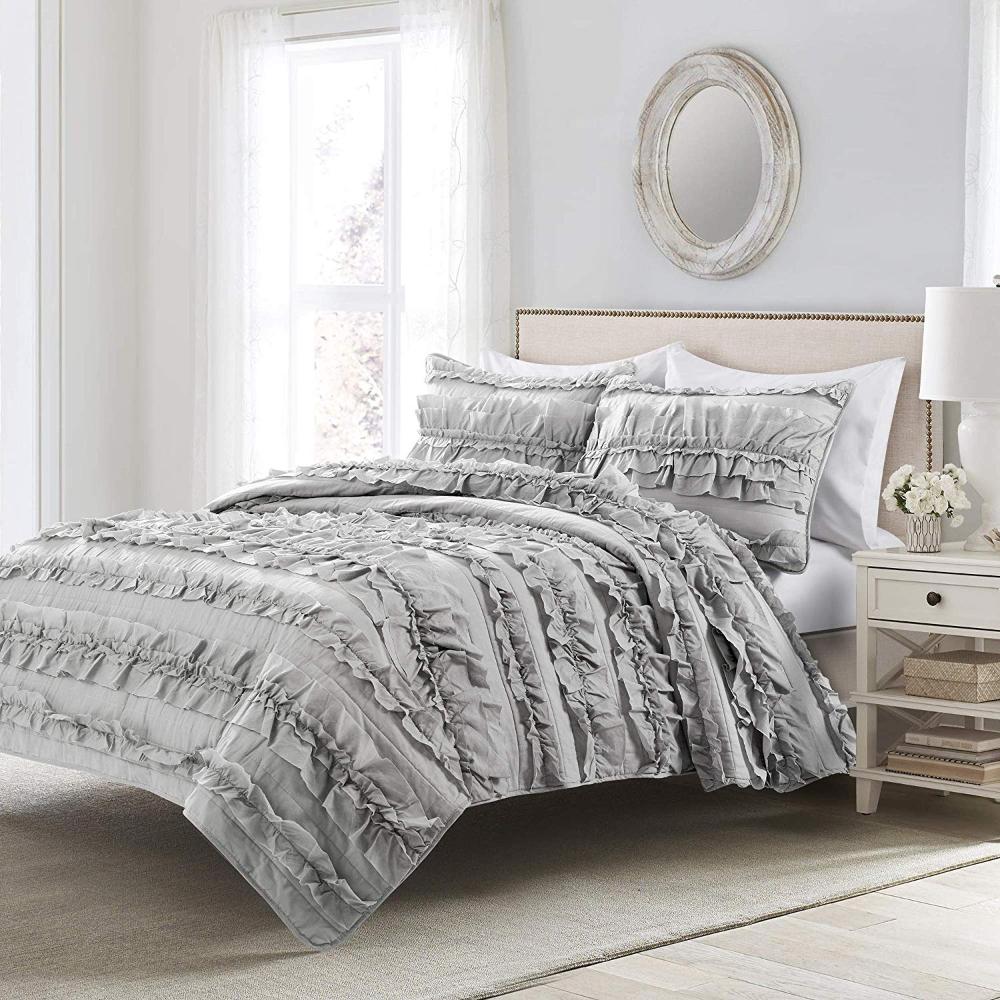 Lush Decor Belle Ivory Comforter Ruffled