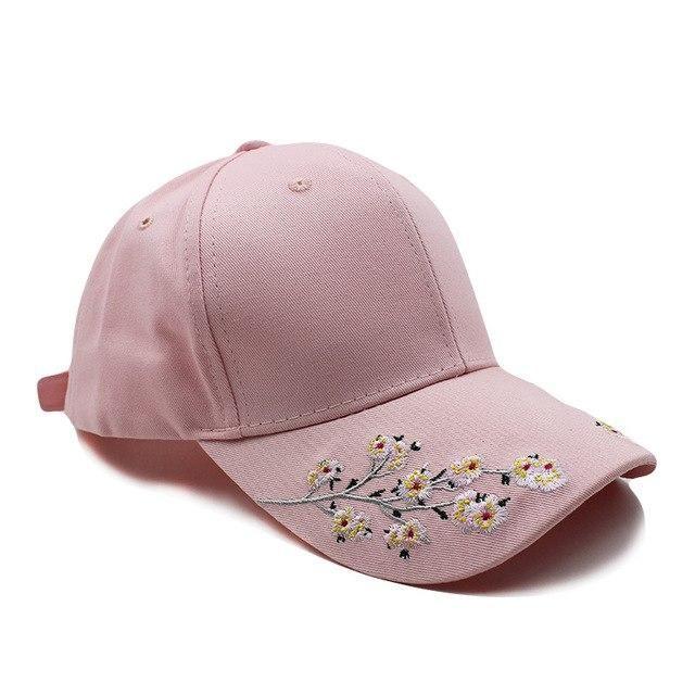 8295950b723  miaoxi  Hip Hop Women Flower Hat Female Baseball Cap Summer New Style Floral  Caps 3 Colors Black Women s Snapback For Girl Hats