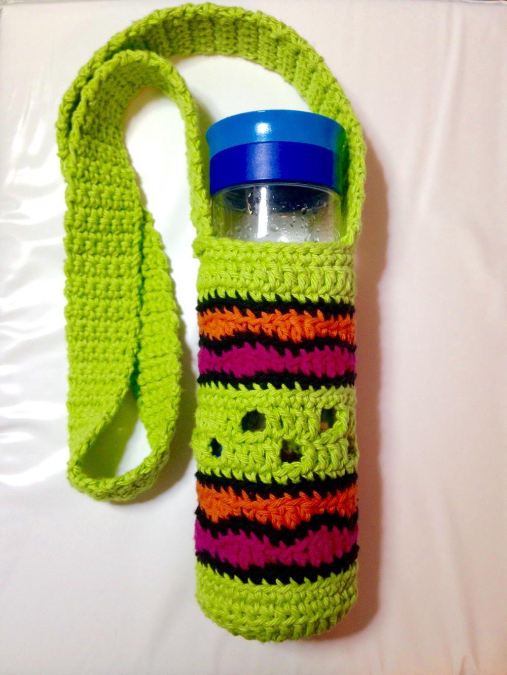 Making Waves Water Bottle Holder | Varios, Tejido y Hogar