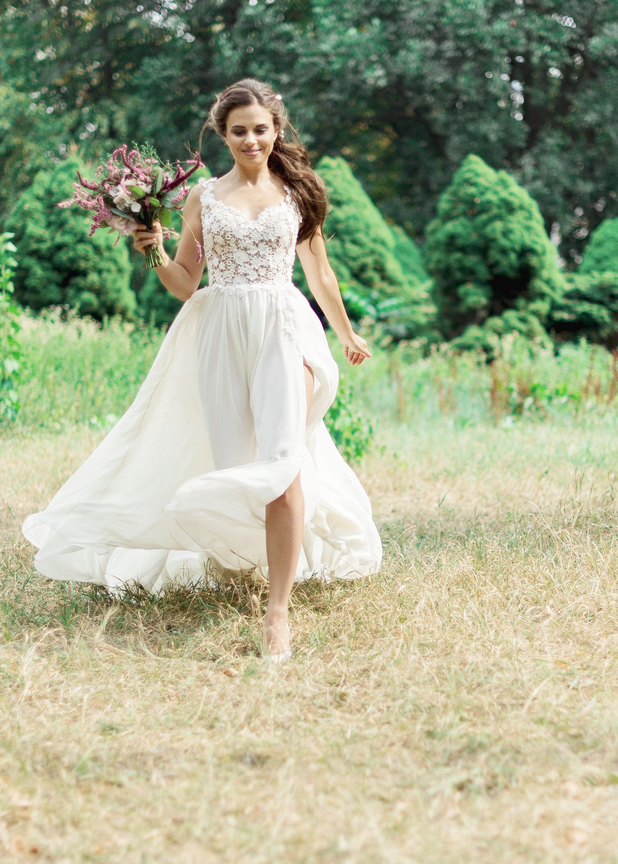 Romantic Boho Wedding Dress Bohemian Wedding Dress Simple Casual Bridal Gown Boho Wedding Dress Bohemian Boho Summer Dresses Boho Wedding Gown [ 3000 x 2143 Pixel ]